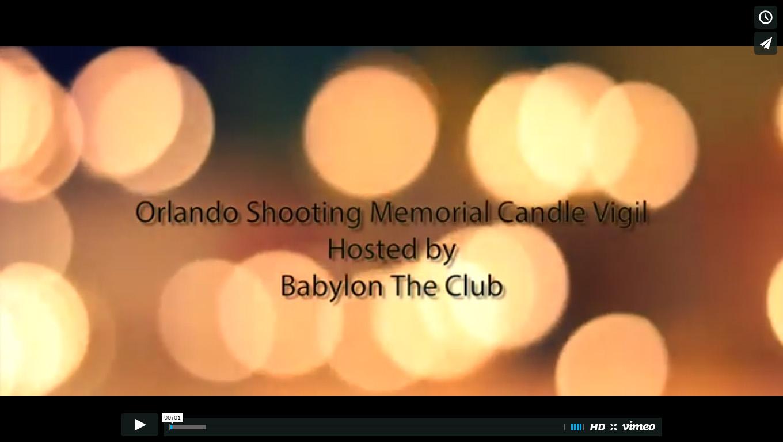 Drawn to Change - Orlando Memorial vigil