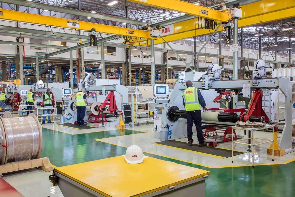 ABB Traction Transformer Plant Editorial shoot
